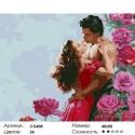 Страстный поцелуй Раскраска по номерам на холсте Color Kit