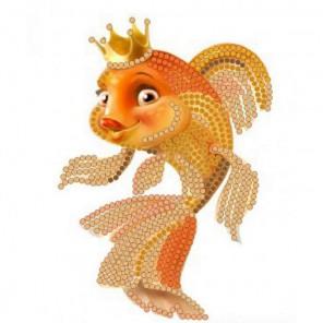 Золотая рыбка Канва с рисунком для вышивки бисером Конек
