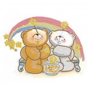 Радужная любовь Канва с рисунком для вышивки бисером Конек