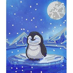 Пингвин Канва с рисунком для вышивки бисером Конек