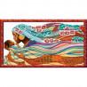 Пример оформления в рамке Мамина радость Канва с рисунком для вышивки бисером Конек 8406