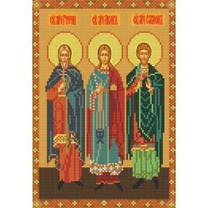 Святые Гурий, Самон и Авив Канва с рисунком для вышивки бисером Конек