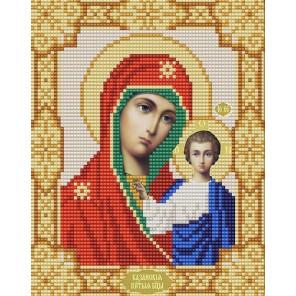 Казанская Богородица Канва с рисунком для вышивки бисером Конек