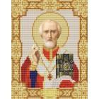 Святой Николай Чудотворец Канва с рисунком для вышивки бисером Конек