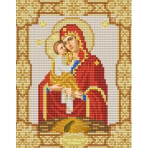 Почаевская Богородица Канва с рисунком для вышивки бисером Конек