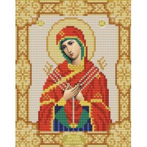 Богородица Умягчение злых сердец Канва с рисунком для вышивки бисером Конек