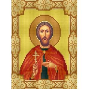 Святой Виктор Канва с рисунком для вышивки бисером Конек