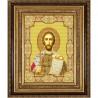Пример оформления в рамке Святой Александр Невский Канва с рисунком для вышивки бисером Конек 9147