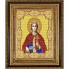 Пример оформления в рамке Святая Екатерина Канва с рисунком для вышивки бисером Конек 9154