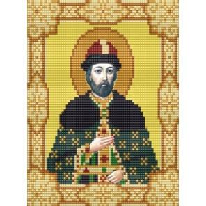 Святой Олег Канва с рисунком для вышивки бисером Конек