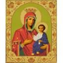 Иверская Богородица Канва с рисунком для вышивки бисером Конек