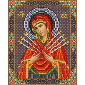 Богородица Семистрельная Канва с рисунком для вышивки бисером Конек