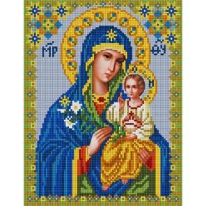 Богородица Неувядаемый цвет Канва с рисунком для вышивки бисером Конек