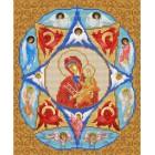 Богородица Неопалимая Купина Канва с рисунком для вышивки бисером Конек