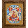 Пример оформления в рамке Богородица Неопалимая Купина Канва с рисунком для вышивки бисером Конек 9217