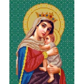 Богородица Отчаянных единая надежда Канва с рисунком для вышивки бисером Конек