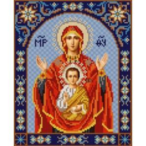 Богородица Знамение Канва с рисунком для вышивки бисером Конек