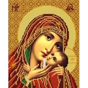 Богородица Касперовская Канва с рисунком для вышивки бисером Конек