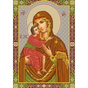 Богородица Феодоровская Канва с рисунком для вышивки бисером Конек