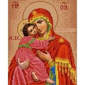 Владимирская Богородица Канва с рисунком для вышивки бисером Конек