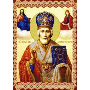 Святой Николай Мирликийский Канва с рисунком для вышивки бисером Конек
