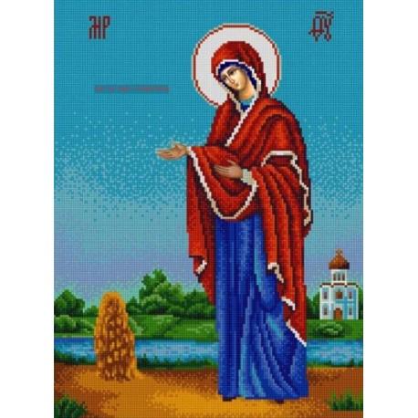 Богородица Геронтисса Канва с рисунком для вышивки бисером Конек