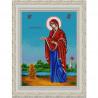 Пример оформления в рамке Богородица Геронтисса Канва с рисунком для вышивки бисером Конек 9258