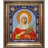 Пример оформления в рамке Святая Татьяна Канва с рисунком для вышивки бисером Конек 9301