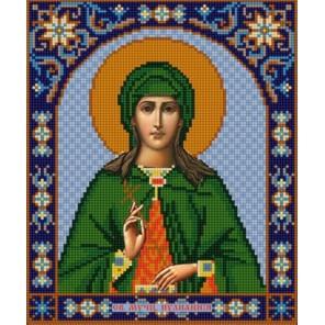 Святая Иулиания Канва с рисунком для вышивки бисером Конек