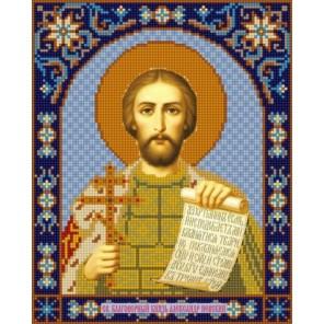 Святой Александр Невский Канва с рисунком для вышивки бисером Конек