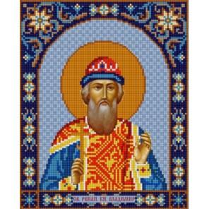 Святой Владимир Канва с рисунком для вышивки бисером Конек