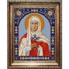 Пример оформления в рамке Святая Валерия Канва с рисунком для вышивки бисером Конек 9345