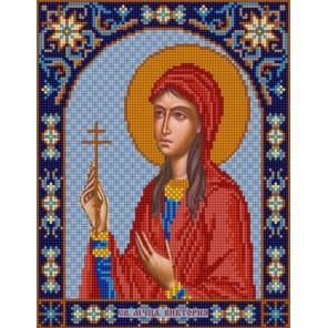 Святая Виктория Канва с рисунком для вышивки бисером Конек