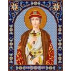 Святой Глеб Канва с рисунком для вышивки бисером Конек