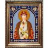 Пример оформления в рамке Святой Глеб Канва с рисунком для вышивки бисером Конек 9355