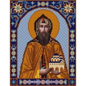 Святой Даниил Канва с рисунком для вышивки бисером Конек