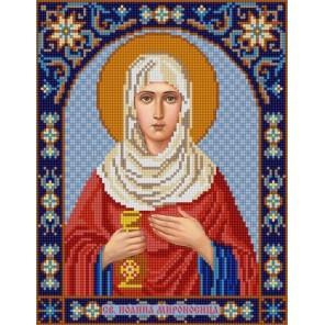 Святая Иоанна Канва с рисунком для вышивки бисером Конек