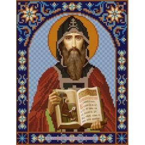 Святой Кирилл Канва с рисунком для вышивки бисером Конек