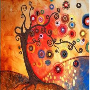 Дерево Канва с рисунком для вышивки бисером Конек