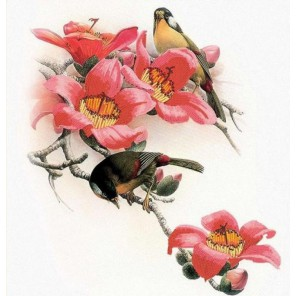 Осенняя мелодия Канва с рисунком для вышивки бисером Конек