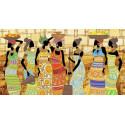 Африканский колорит Канва с рисунком для вышивки бисером Конек