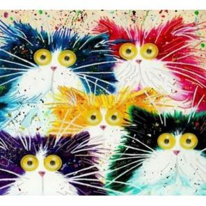 Мартовские коты Канва с рисунком для вышивки бисером Конек