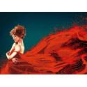 Леди в красном Канва с рисунком для вышивки бисером Конек