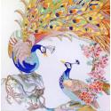 Полиптих. Павлины 2 Канва с рисунком для вышивки бисером Конек