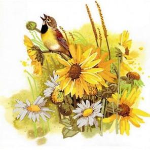 Певунья птичка Канва с рисунком для вышивки бисером Конек