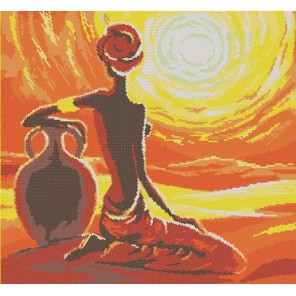Летний зной Канва с рисунком для вышивки бисером Конек