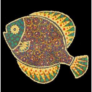 Рыбка Канва с рисунком для вышивки бисером Конек