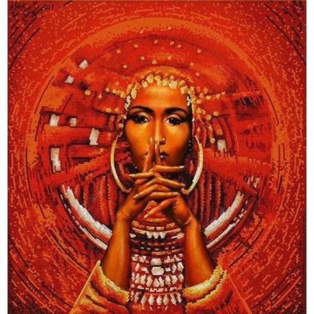 Африканка Канва с рисунком для вышивки бисером Конек