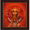 Пример оформления в рамке Африканка Канва с рисунком для вышивки бисером Конек 9532