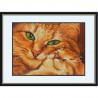 Пример оформления в рамке Кошка с котенком Канва с рисунком для вышивки бисером Конек 9533